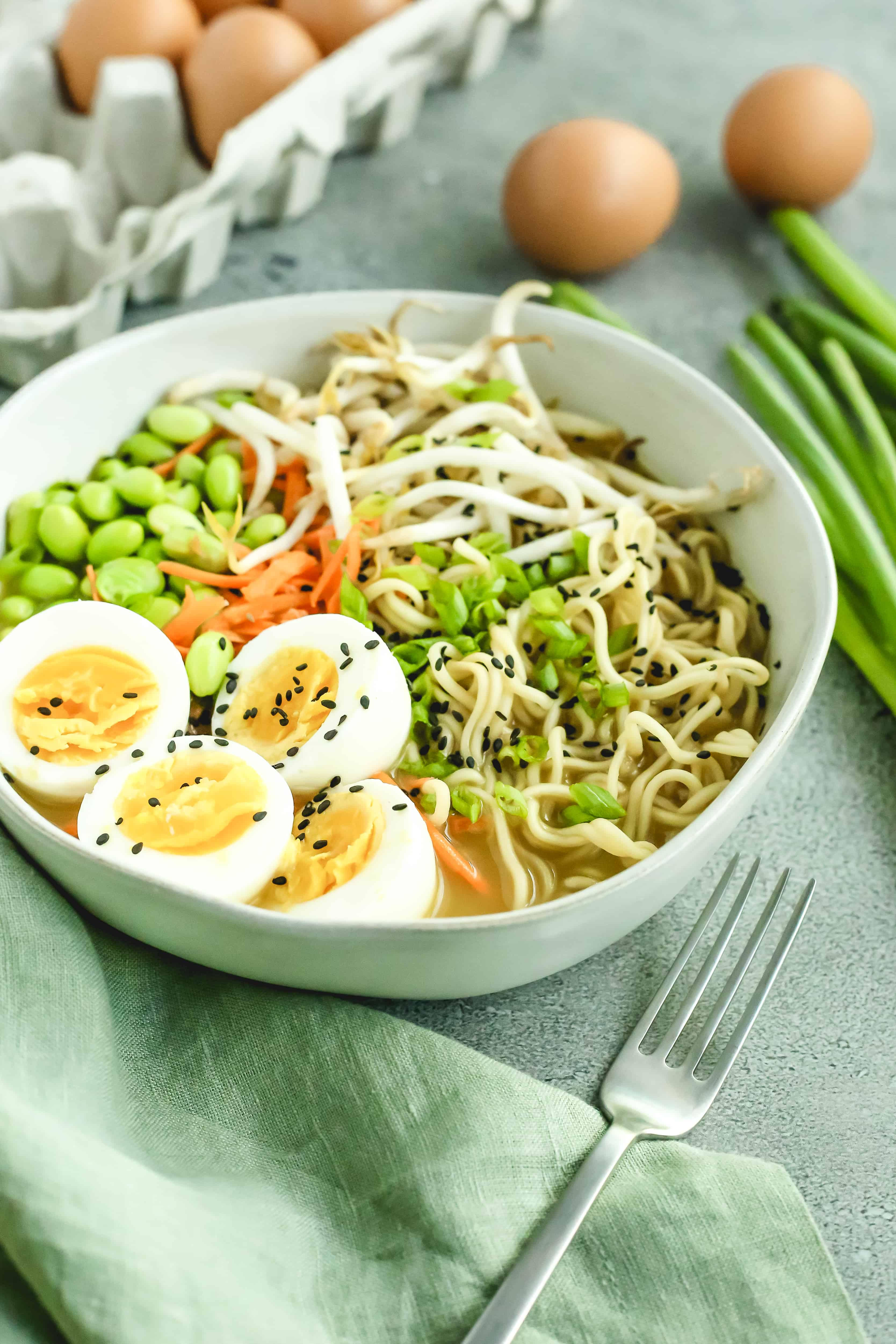 Easy Homemade Ramen with Eggs in the