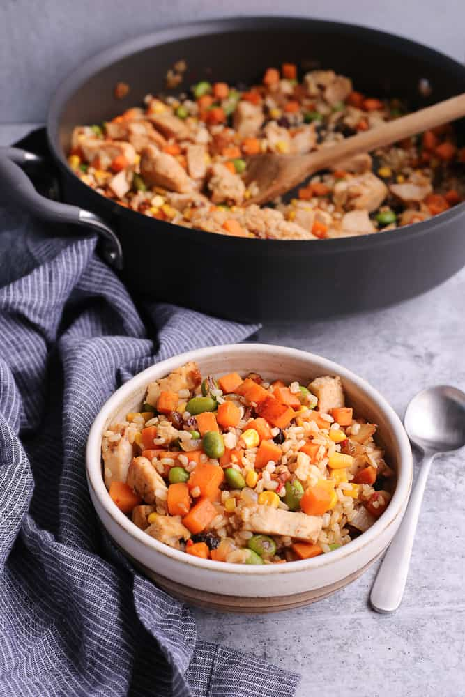 Brown Rice Recipes: Brown Rice and Sweet Potato Hash